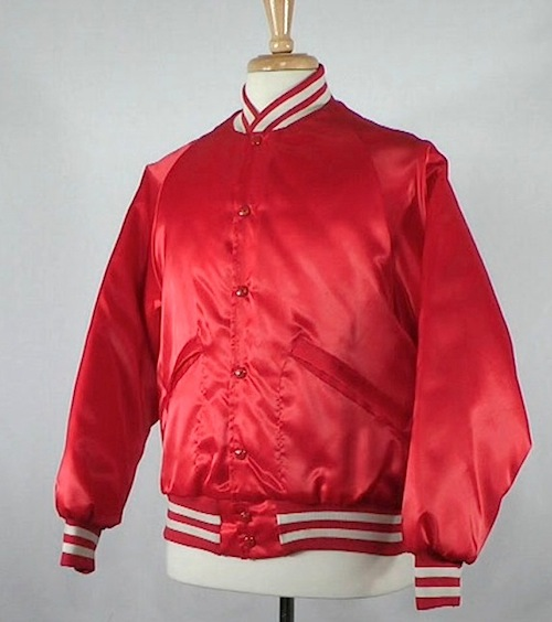 Red Baseball Jacket from AMERICANA